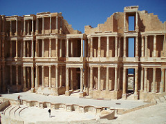 Sabratha is a popular sightseeing spot