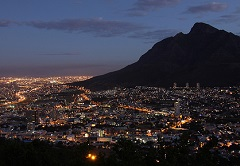 Streetlights consuming electricity in Cape Town