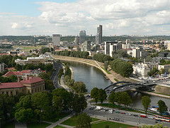 The river Neris runs through the centre of Lithuania's capital city of Vilnius
