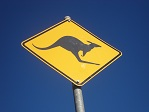 Kangaroo sign for Australia