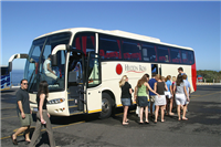 Tour bus in South Africa