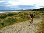 Riding a bike in New Zealand
