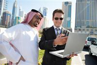 Two men doing business in Qatar