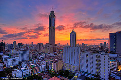 The Bangkok city centre hosts many businesses and corporations