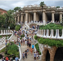 Park Güell is the most famous recreational park in Barcelona