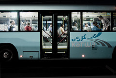 Karwa bus, arguably the main mode of public transport in Doha