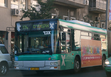 cost of transport in Israel, bus in Israel
