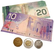 Canadian dollar representing the Cost of Living in Canada