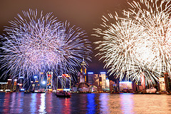 Chinese new year celebrations in Hong Kong by Michael Elleray