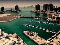 The harbour in Doha, Qatar