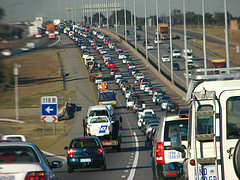 Traffic in Johannesburg, South Africa