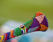 Vuvuzelas are a frequently seen South African creation