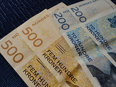 Norwegian Krone, the official currency of Norway