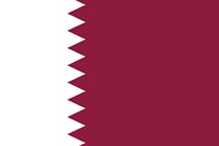 Official flag of the State of Qatar