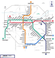 Click for larger image of Santiago metro stations