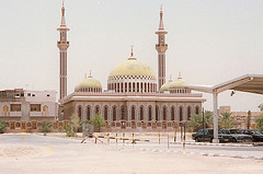 A mosque in Saudi Arabia to denote religion and worship in the Kingdom