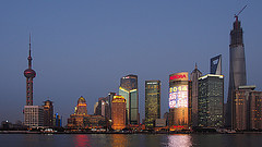 Shanghai is one of China's business centres