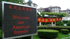 A school in Shanghai welcomes international students