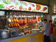 food stall at a singapore hawker center