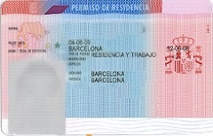 An official work and residence permit for Spain