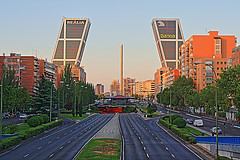 The Gate of Europe Towers in Madrid, the Spanish capital