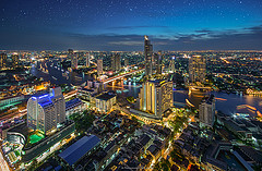 Commercial buildings in Bangkok, where business gets done.