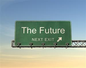 """The Future"" sign - and the expat interview skill to take you there"