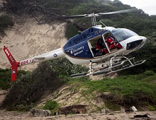 ER24 Discovery Health emergency helicopter in South Africa