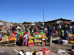 Market in Kitwe - Cost of Living in Zambia
