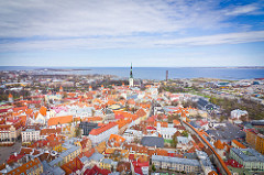 Tallinn Old Town is among the attractions of moving to Estonia