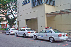 Police cars in Singapore