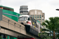 KL Monorail - Transport and driving in Malaysia